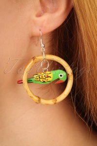 Glitz o Matic Parrot Bamboo Hoop Earrings 333 49 24935 09052018 02W