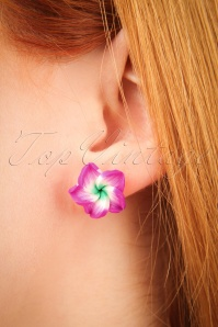 Glitz o Matic Purple Flower Earrings 330 69 24926 09052018 02W
