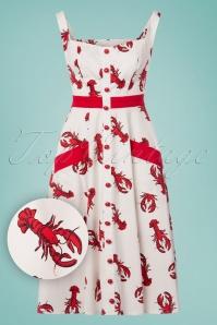 Collectif Clothing Sandrine Rock Lobster Swing Dress 23624 20171120 0014W1