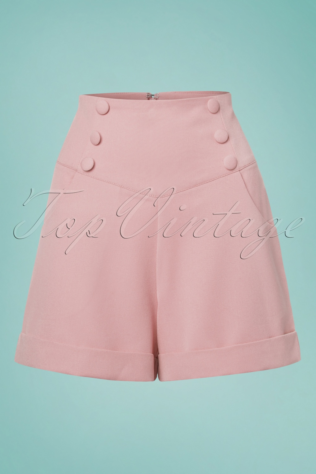 Sailor Dresses, Nautical Dress, Pin Up & WW2 Dresses 50s Cute As A Button Shorts in Powder Pink £33.53 AT vintagedancer.com