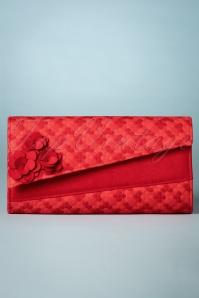 50s Oxford Denim Clutch in Red