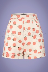 50s Ayana Peachy Shorts in Ivory
