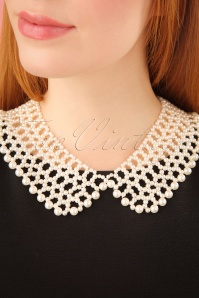 50s Eleanor Pearl Necklace in Cream