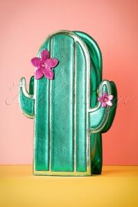 50s Cactus Novelty Bag in Green