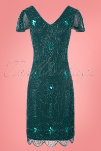 GatsbyLady 20s Teal Sparkling Flapper Dress 100 31 25981 20170922 0002W