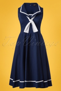 Sheen Sailor Navy Dress 102 31 23943 20180410 0001W