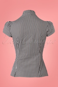 Heart of Haute Estelle Blouse Black and White Stripes 112 14 25361 20180420 0004w