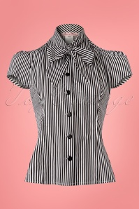 Heart of Haute Estelle Blouse Black and White Stripes 112 14 25361 20180420 0001w