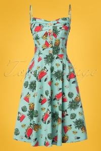 Collectif Clothing Fairy Tropical Fruit Doll Dress in Green 23626 20171121 0012W