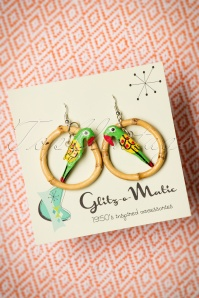 Glitz o Matic Parrot Bamboo Hoop Earrings 333 49 24935 14052018 002W