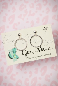 Glitz o Matic Silver Hoop Earrings 333 92 24944 14052018 001W