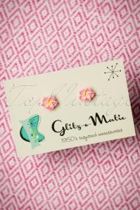 Glitz o Matic Pink Flower Earrings 330 22 24919 14052018 002W