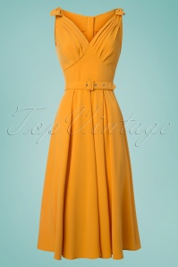 Miss Candyfloss Yellow Bow Swing Dress 25772 20180516 0003