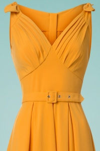 Miss Candyfloss Yellow Bow Swing Dress 25772 20180516 0002