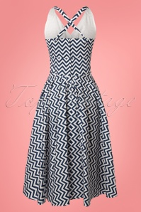 Miss Candyfloss Zig Zag Swing Dress in Blue 102 39 24195 20180508 0003W