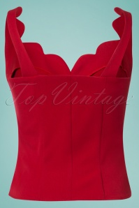 Miss Candyfloss Red Sculptured Top 110 20 24168 20180508 0003W
