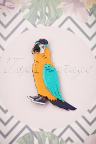 Erstwilder Corey The Macaw Brooch 340 89 26101 15052018 002W