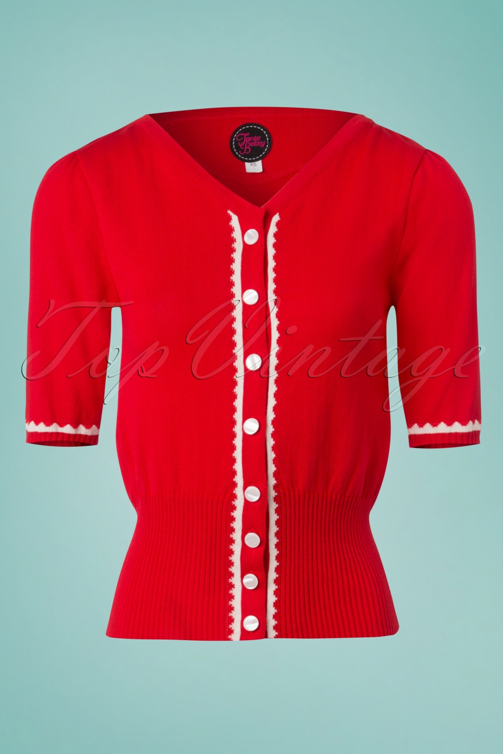 1940s Blouses and Tops 60s Summer Paris Cardigan in Red £61.31 AT vintagedancer.com