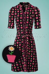 Tante Betsy Frieda Dress Daisy in Black 106 14 23539 20180425 0001WV