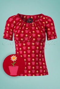 Tante Betsy Shirt Luna Daisy Red 111 27 23542 20180425 0001W1