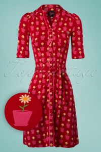 Tante Betsy Frieda Dress Daisy in Red 106 27 23540 20180425 0002W1