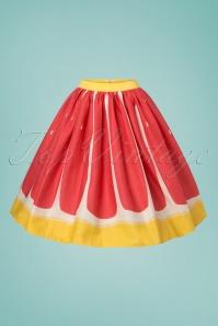 Collectif Clothing Jasmine Pink Grapefruit Swing Skirt 122 22 23631 20180515 0006W