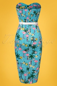 Collectif Clothing Monica Tropical Flamingo Pencil Dress 100 39 23640 20180515 0002W