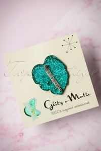 Glitz o Matic Green Brooch 340 39 24955 14052018 003W