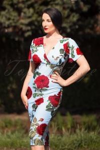 Vintage Chic Scuba Crepe Roses Pencil Dress 100 39 24479 20180302 0007W