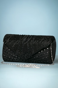 20s Beatrice Beaded Clutch in Black