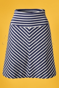 King Louie 60s Sailor Striped Navy Blue Skirt  107 39 13868 20150211 0006W