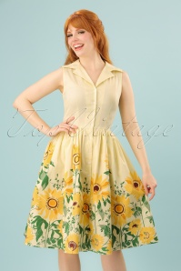 Dancing Days by Banned Yellow Sunflower Dress 102 89 24249 20180327 0004W