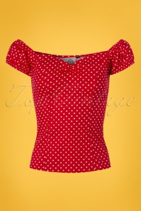 Dancing Days by Banned Polkadot Off shoulder Top 110 27 24255 20180312 0002W