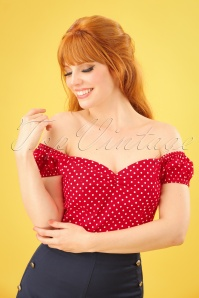 Dancing Days by Banned Polkadot Off shoulder Top 110 27 24255 20180312 0005W