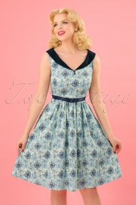 Dancing Days by Banned Compass 50s Nautical Blue Dress 102 39 24308 20180327 0004W