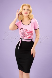 Dancing Days by Banned Grease Collection Black and Pink Pencil Skirt 120 10 24339 20180313 0009W