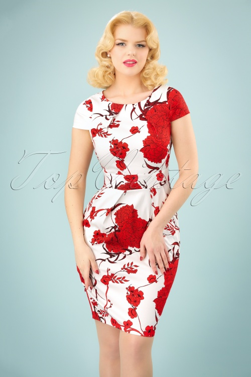 Closet Tulip Tie White Red Floral Dress 100 59 25645 20180405 0004W
