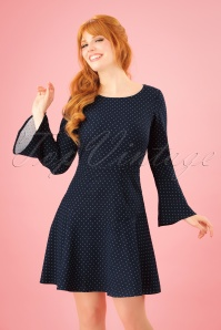 Closet London Navy Polkadot Dress 106 39 25648 20180328 0004W