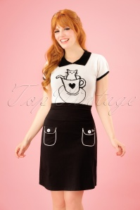 Tante Betsy Flap Pocket Black Skirt 123 10 23529 20180329 0004W