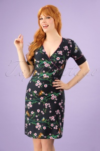 Tante Betsy Floral Black Dress 106 14 23531 20180329 0004W