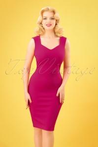 Vintage Chic 50s Magenta Veronica Pencil Dress 100 22 25448 20180330 0004W