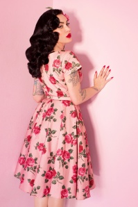 Vixen by Micheline Pitt Pink Roses Swing Dress 102 29 25492 20180514 0015