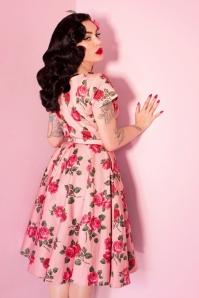 Vixen by Micheline Pitt Pink Roses Swing Dress 102 29 25492 20180514 0015