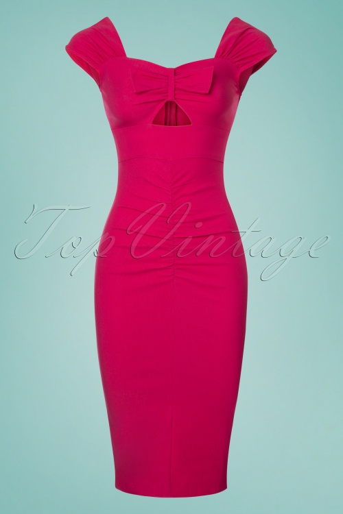 Stop Staring Hot Pink Bow Pencil Dress 100 22 24554 20180508 0008w