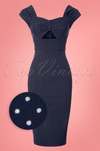 Stop Staring Polkadot Blue Pencil Dress 100 39 24556 20180508 0001wv