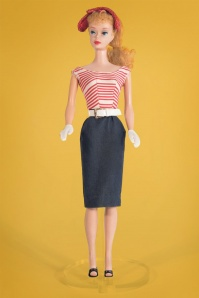 Unique Vintage Barbie Collection Cruiser Sailor Striped Pencil Dress 100 31 25975 20180508 0010