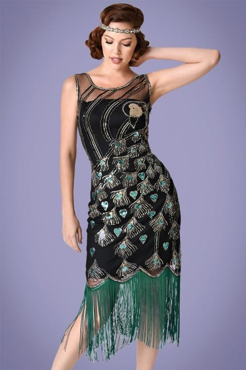 bdd4bd6a1569cf Unique Vintage 20s Antoinette Sequin Flapper Dress 100 14 26001 20180420  0006