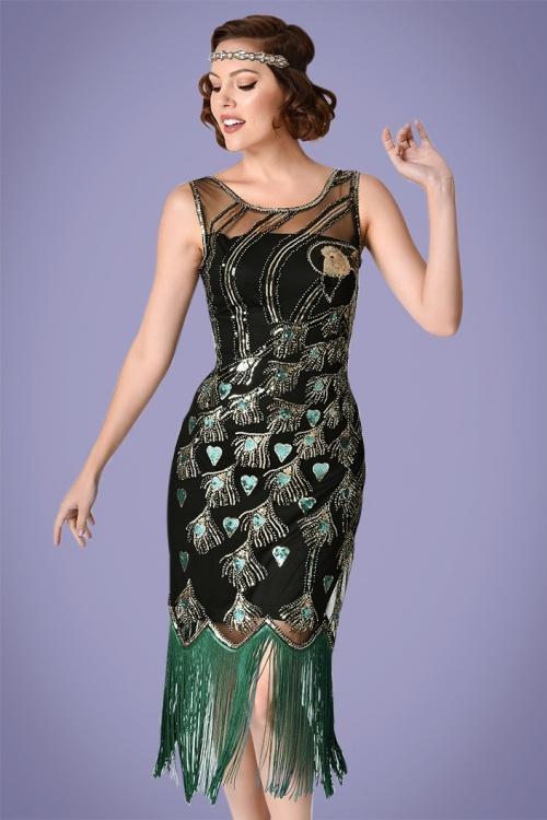4bd713b2c089a2 Unique Vintage 20s Antoinette Sequin Flapper Dress 100 14 26001 20180420  0005