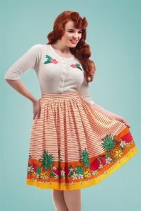 Collectif Clothing Jasmine Tropical Fruit Swing Skirt 22802 20171120 01