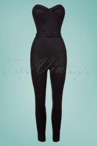 Collectif Clothing Monica Foiled Jumpsuit in Black 23620 20171121 0003W